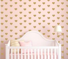 My Hearts aflutter for you! Mini heart decals to decorate your little ones room or nursery.    Approx. Dimensions:2.25 w x 2h (shown in Gold)