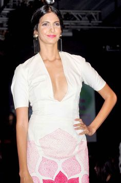 Poorna Jagannathan of 'Delhi Belly' fame in this fabulous number by Rahul Mishra with a plunging neckline off the ramp at the Lakme Fashion Week Winter/Festive 2014 opener. #Bollywood #Fashion #Style #Beauty