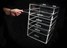 6 Drawer Acrylic Makeup Organizer by AcrylicMakeup on Etsy. MUST HAVE.