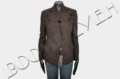 GUCCI RP:2000$ BROWN BROCADE JACQUARD BLAZER JACKET