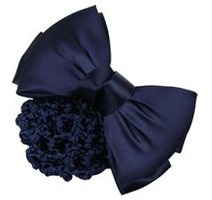 FOONEE Bowknot Decor Barrette Bun Cover Net Snood Hair Clip For Women,Blue -- This is an Amazon Affiliate link. You can find more details by visiting the image link.