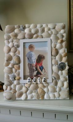 Seashell Picture Frame...how to...