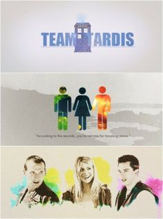 Team TARDIS; The Doctor, Rose Tyler, Capt. Jack Harkness