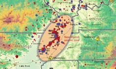 This week's earthquake in Virginia calls to mind another part of the country that faces a surprising level of earthquake risk: the New Madrid Seismic Zone, near the middle of the Mississippi River. Poplar Bluff, Little Rock, Heartland, Arkansas, Memphis, Nashville, Kentucky, Tennessee, Madrid