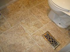 diy grouted vinyl tiling, bathroom ideas, home decor, tile flooring, tiling, Grouted vinyl tiling