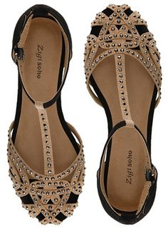 "Zigi Soho ""Veeta"" Sandals in black and beige (ZARA knockoffs)"