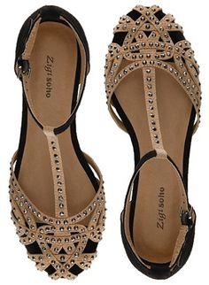 "Zigi Soho ""Veeta"" Sandals in black and beige (ZARA knockoffs)"