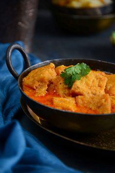 chickpea flour dumplings in curry