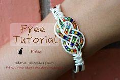 eBook (Feliz) - Free Tutorial to Chinese knot bracelet Friendship Bracelet/Wish Bracelet-Instant download Pattern- FREE SHIPPING