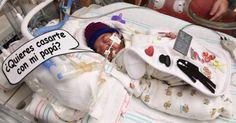 Conmovedor! Bebé prematuro ayuda a su papá a medirle matrimonio a su mamá
