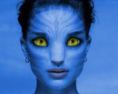 Natalie Portman as Na'vi Avatar Films, Avatar Movie, Avatar Makeup, Avatar Fan Art, Avatar Costumes, Make Avatar, Makeup Charts, Glow Paint, Anime Galaxy