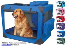 Portable, collapsible DOG CRATE KENNEL Travel pet crates