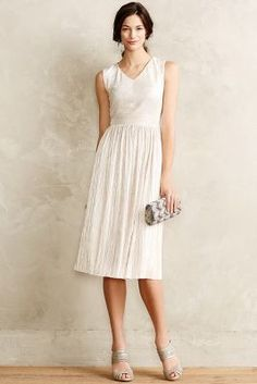 White Ivy & Blue Pleated Eclat Dress. | #shoplu lucurates.com ~ sold out except size 4 I think, pinning for pattern idea
