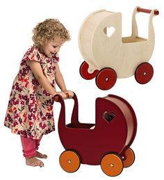 Moover's Danish Wooden Doll Pram - there's a little video, too
