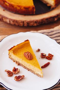 Crepes of Wrath: A rich, decadent pumpkin cheesecake made with goat cheese and a buttery oat crust.