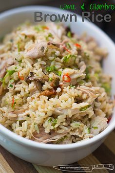 Lime and Cilantro Brown Rice by jacobus-, via Flickr