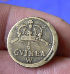 SUPER HALF GUINEA WEIGHT WILLIAM AND MARY 4.1 GRAMS