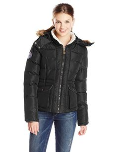 U.S. Polo Assn. Women's Fur-Trimmed Hood Jacket