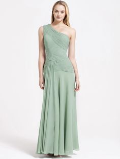 Pleated Bodice Chiffon Bridesmaid Dress | 15% off, plus FREE Custom Made! 10+ measurements required for a perfect fit, no matter what sizes you are in!