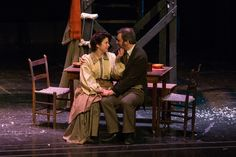 Happy Cratchits-Bob and Mrs. Cratchit