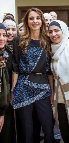 Feb 10, 2015 ♔♛Queen Rania of Jordan♔♛...