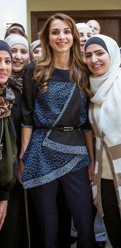 Feb 10, 2015 ♔♛Queen Rania of Jordan♔♛...