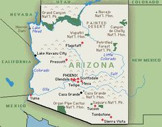 """Wikipedia: """"Arizona is located in the Southwestern United States as one of the Four Corners states. Arizona is the sixth largest state in area, after New Mexico and before Nevada.""""    http://www.realtyazcentral.com/"""