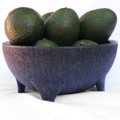 Molcajete Bowl with 8 premium, 8 os Hass avocados from the farm