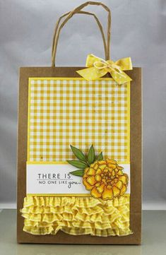 There is No One Like You Gift Bag by Andrea Walford Creative Gift Wrapping, Creative Gifts, Paper Gift Bags, Paper Gifts, Craft Gifts, Diy Gifts, Homemade Gift Bags, Decorated Gift Bags, Packaging Box