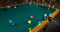 Amazing Two Rail Kicking System Billiard Supplies, Custom Pool Tables, Pool Table Room, Basement Remodeling, Bathroom Remodeling, Play Pool, Mobile Home Decorating, Billiards Pool, Game Room Design