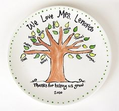 Personalized Teacher, Coach or Family Tree Plate