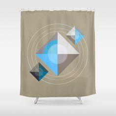 Minimalism / Geometric 4 Shower Curtain by ViviGonzalezArt - $68.00