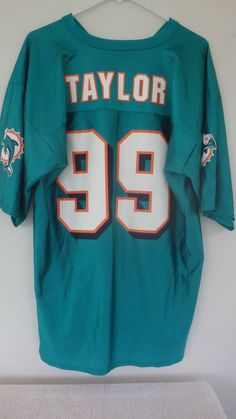 Official NFL AFC Miami Dolphins  99 Jason Taylor Replica Jersey Large L EUC   NFL. Miami DolphinsNfl Jerseys 972baba35