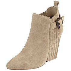 FSJ Women Stacked Chunky Heel Ankle Booties Almond Toe Pull On Boots... (1.520 UYU) ❤ liked on Polyvore featuring shoes, boots, ankle booties, almond toe boots, chunky heel ankle booties, wide width boots, wide ankle booties and chunky heel booties