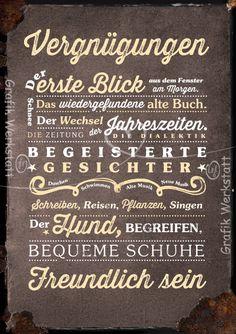 Vergnügungen - Postkarten - Grafik Werkstatt Bielefeld