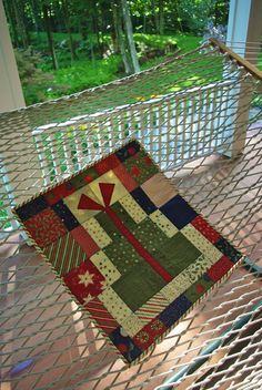 Christmas Present Wall Hanging Quilt by ZeeBagsVt on Etsy, $60.00 - 2nd prize winner at the 2012 Vermont State Fair