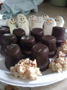 Easy Christmas Cookies.  Recipes are easy check out the internet site for the recipes.  No bake cookies