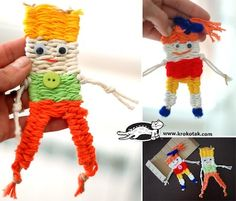 Krokotak beginning weaving for kids woven doll