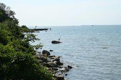 Beautiful shoreline, Middle Bass Island, Ohio. Lake Erie
