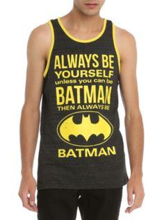 51fe29caac DC Comics Batman Be Yourself Tank Top Batman Love