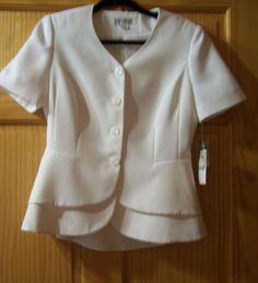 Womens Cream Suit Size 10 New With Tags Good for Wedding. Emily Brand #Emily #DressSuit