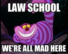 Law School: We're all mad here Cheshire Cat