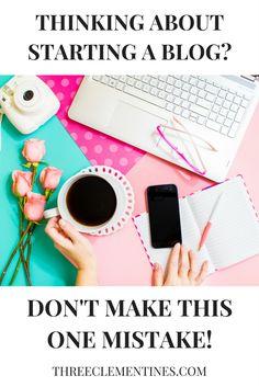 The one mistake to avoid when starting a blog. #blog #blogging #bloggingmistakes #wordpress #bluehost #startingablog