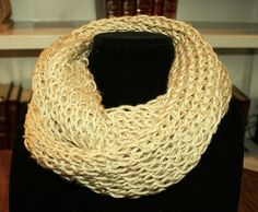 Infinity Scarf hand knitted. A beautiful golden by TrinksKnitting, $15.00