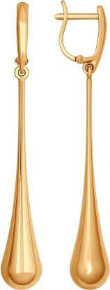 Золотые длинные серьги СОКОЛОВ 026986_s