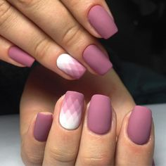 Powder pink and white matte nail design with gradient rhombuses Designs – Nails Club Really Cute Nails, Pretty Nails, Glam Nails, Matte Nails, Purple Nails, Red Nails, Luminous Nails, Ombre Nail Designs, Girls Nails