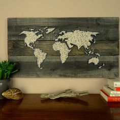 Luxury ARTFINDER The Old World by Christina Haas Have the entire world on your wall For this vintage world map picture I used original old wooden planks