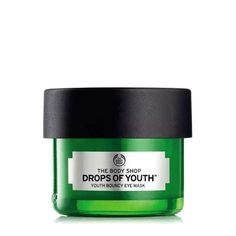 Try Drops of Youth™ Eye Mask in travel size from The Body Shop. Infused with plant stem cells, this night eye mask revives the eye area while you sleep. The Body Shop, Body Shop At Home, Body Shop Australia, Lotion, Under Eye Mask, Overnight Mask, Tired Eyes, Eye Contour, Products