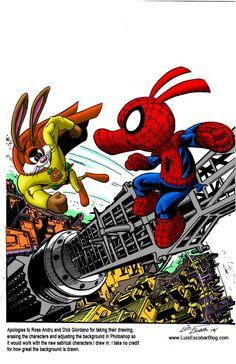 Spider-Ham vs Captain Carrot