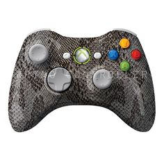 XBOX 360 controller Wireless Glossy WTP-134-Snakeskin-Black Custom Painted- Without Mods